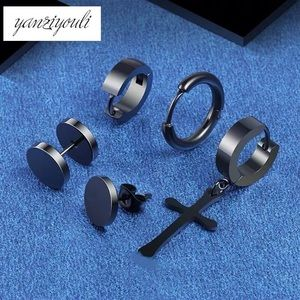 5 Pcs/Set Stainless Steel Earrings UNISEX